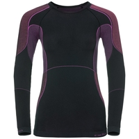 EVOLUTION X-WARM baselayer shirt, black - pink glo, large