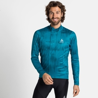Men's ZEROWEIGHT CERAMIWARM Cycling Midlayer, tumultuous sea - submerged, large