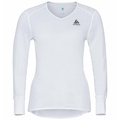 Women's ACTIVE WARM ECO V-Neck Baselayer Top, white, large