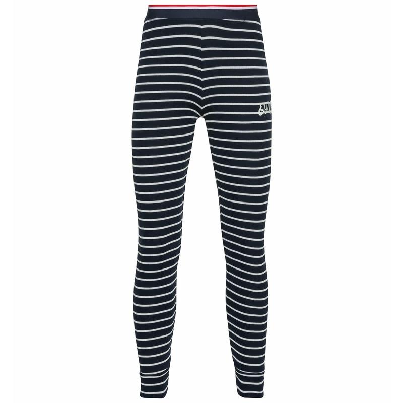 The Active Warm Originals ECO kids stripes bottoms, dark sapphire - odlo silver grey, large