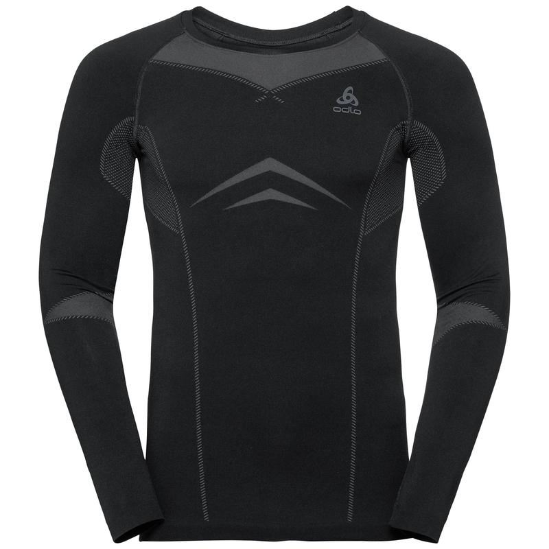 Herren PERFORMANCE EVOLUTION WARM Sportunterwäsche Langarm-Shirt, black - odlo graphite grey, large