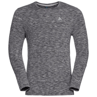 T-shirt l/s SILLIAN, odlo concrete grey space dye, large