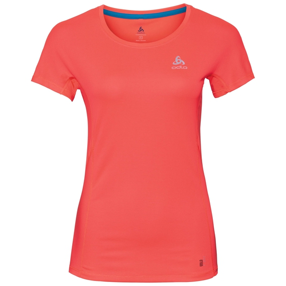 BL Top Crew neck s/s OMNIUS Light, fiery coral, large