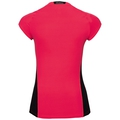 BL Top Crew neck s/s CERAMICOOL pro, fiery coral - black, large