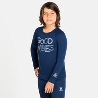 ACTIVE WARM ECO TREND KIDS Baselayer-Oberteil, estate blue - graphic FW20, large