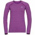 Women's SEAMLESS ELEMENT Long-Sleeve Top, hyacinth violet melange, large
