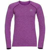 SEAMLESS ELEMENT-top met lange mouwen voor dames, hyacinth violet melange, large