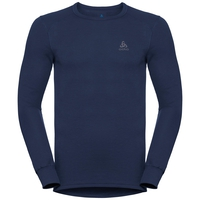 Men's ACTIVE WARM Long-Sleeve Base Layer Top, diving navy, large