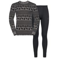 Set ACTIVE Originals WARM REINDEER, odlo steel grey - black, large