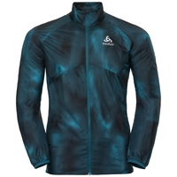 Men's OMNIUS LIGHT Jacket, blue coral - AOP FW18, large
