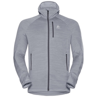 Midlayer con cappuccio STEAM da uomo, grey melange, large