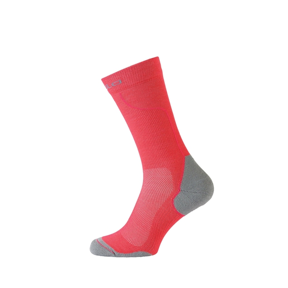 Socks long CERAMIWARM, diva pink - odlo concrete grey, large
