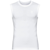 Men's PERFORMANCE LIGHT Base Layer Singlet, white, large