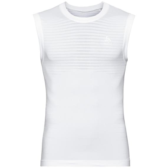 Men's PERFORMANCE LIGHT Base Layer Singlet, white, large
