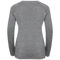 Women's ALLIANCE Long-Sleeve Top, grey melange - leaf print FW19, large