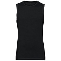 SUW TOP Crew neck Singlet NATURAL + CERAMIWOOL LIGHT, black, large