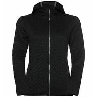 Pull technique à capuche et zip intégral CORVIGLIA KINSHIP pour femme, black, large