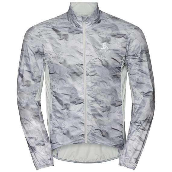 Jacket FUJIN, odlo silver grey - paper print, large