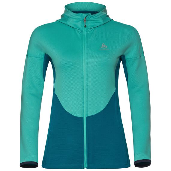 Hoody midlayer full zip KOYA, pool green - crystal teal, large