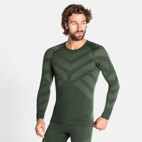 Herren NATURAL + KINSHIP WARM Baselayer-Shirt, climbing ivy melange, large