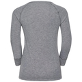 Shirt l/s crew neck GOD JUL PRINT, grey melange, large