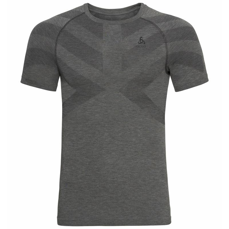 Herren KINSHIP LIGHT Base Layer T-Shirt, grey melange, large