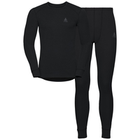 Men's ACTIVE WARM Long Sleeve Baselayer Set, black, large