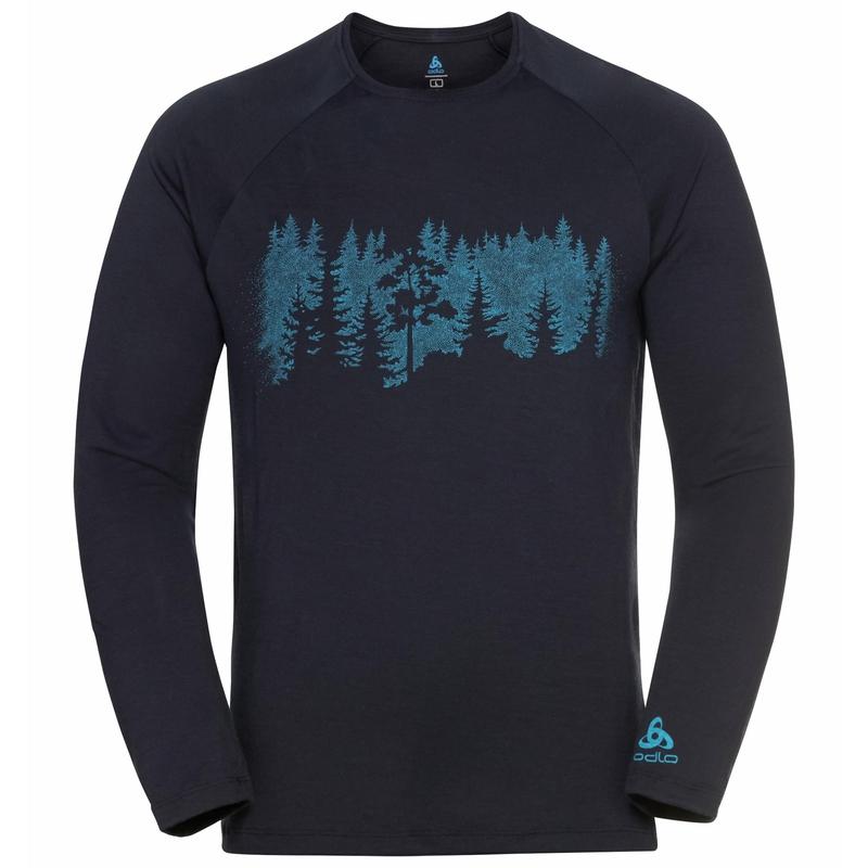 Concord Summit Print Langarm-Shirt, dark sapphire, large