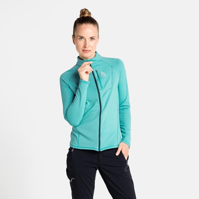 Women's FLI LIGHT Full-Zip Mid Layer, jaded, large
