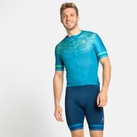 ZEROWEIGHT CERAMICOOL PRO-fietsshirt met volledige rits en korte mouwen voor heren, horizon blue - graphic SS21, large