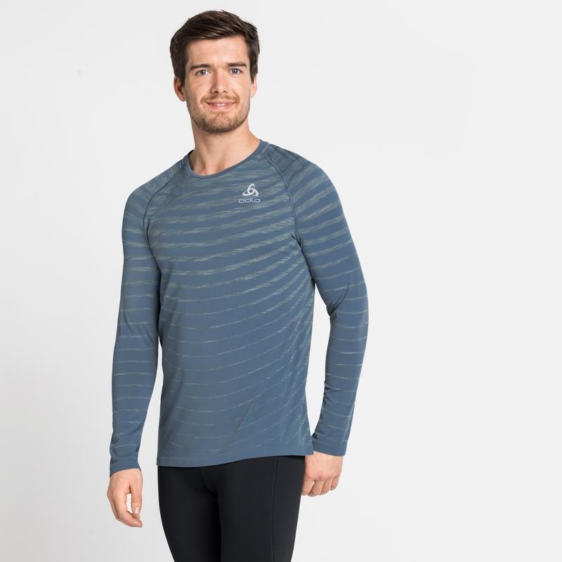 Men's BLACKCOMB PRO Long-Sleeve T-Shirt, china blue - space dye, large