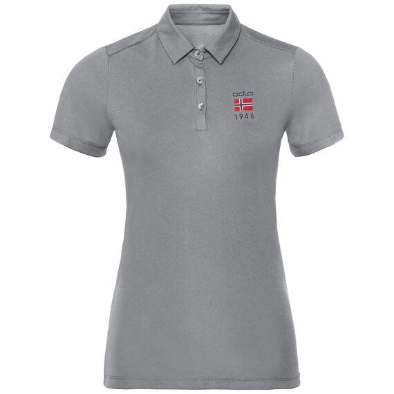 Polo shirt s/s TINA CITY, odlo concrete grey, large