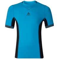 Ceramicool pro baselayer shirt men, blue jewel - black, large