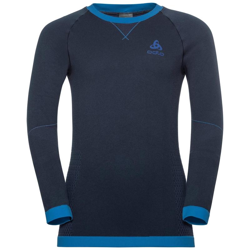 PERFORMANCE WARM KIDS Funktionsunterwäsche Langarm-Shirt, diving navy - energy blue, large
