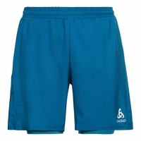 Men's RUN EASY 7 INCH 2-in-1 Shorts, mykonos blue - horizon blue melange, large