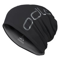 Bonnet CERAMIWARM REVERS, black - odlo steel grey, large