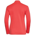 Midlayer 1/2 zip HARBIN, hot coral, large