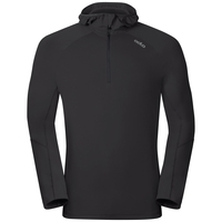 Hoody midlayer 1/2 zip SILLIAN, black, large