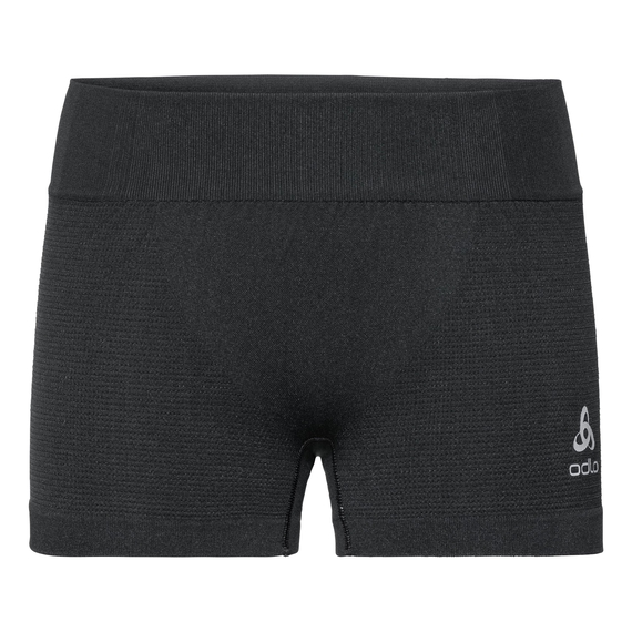 PERFORMANCE WARM-sportondershort voor dames, black - odlo concrete grey, large