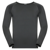 SUW TOP Crew neck l/s PERFORMANCE Essentials LIGHT, odlo graphite grey - black, large