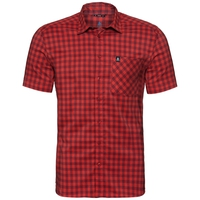 Camisa de manga corta NIKKO CHECK, red dahlia - fiery red - check, large