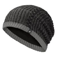 FAMOUS hat, black - odlo steel grey, large
