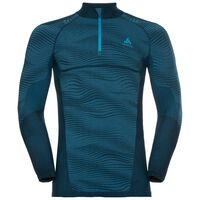 Naadloze onderkleding Top met col en 1/2 rits l/m PERFORMANCE BLACKCOMB, poseidon - blue jewel - atomic blue, large