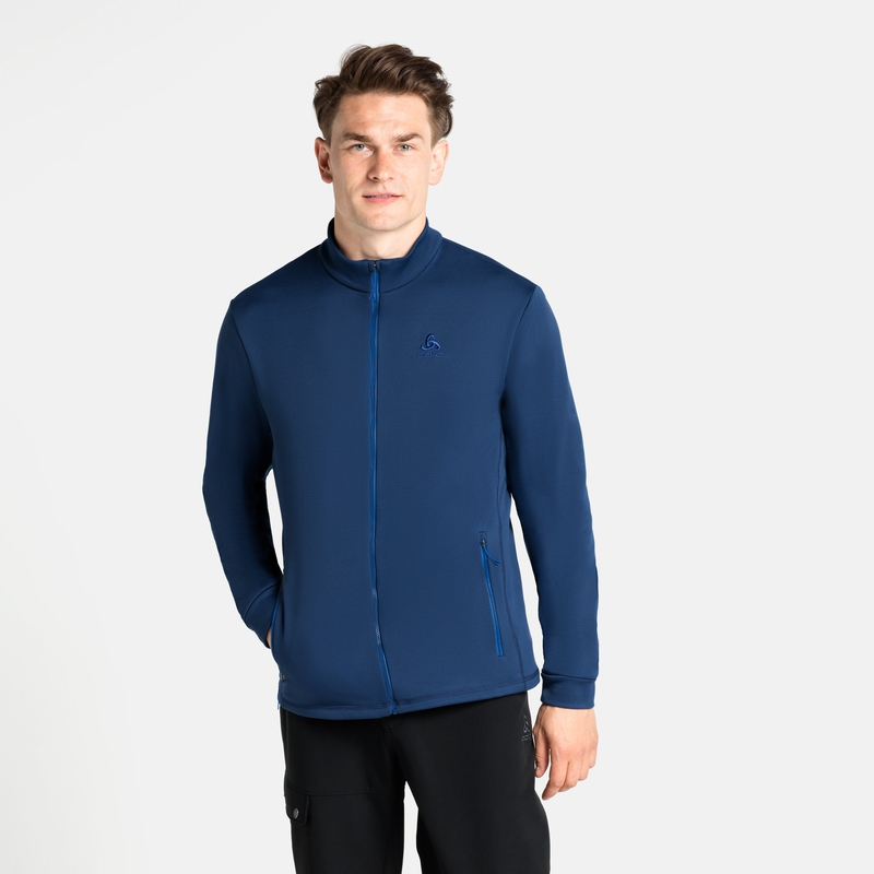 Berra Mid Layer Jacke, estate blue, large