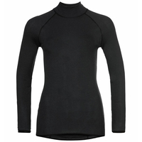 Women's PURE WOOL Long-Sleeve Baselayer Top, black, large