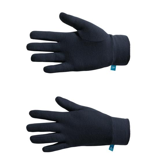 Gloves WARM PRINT, navy new, large