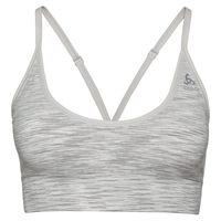Women's Padded SEAMLESS SOFT 2.0 Sports Bra, light grey melange, large