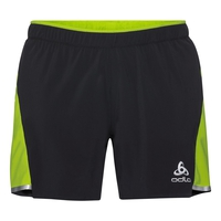 Men's ZEROWEIGHT CERAMICOOL LIGHT 2-In-1 Shorts, black - acid lime, large