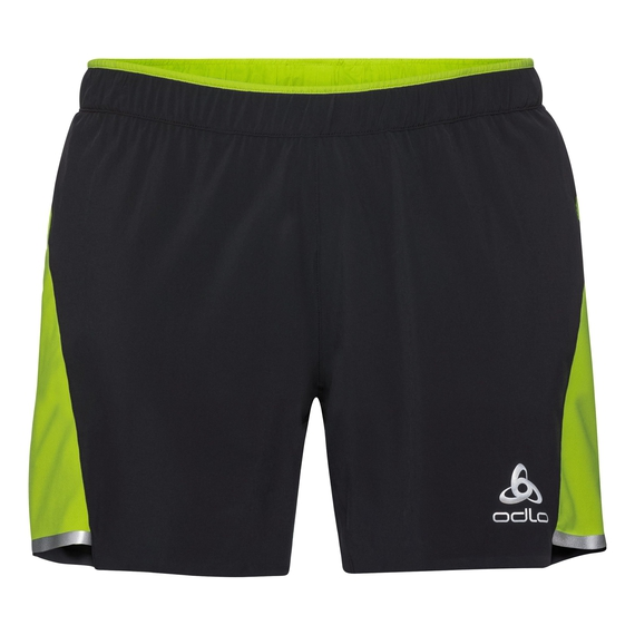 Herren ZEROWEIGHT CERAMICOOL LIGHT 2-in-1 Shorts, black - acid lime, large