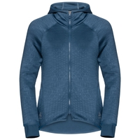 Damen LOU Midlayer Hoody, blue wing teal - AOP FW19, large